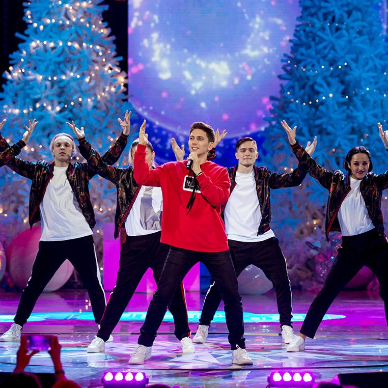 Выступление ЮрКисса на новогоднем шоу «Русское Рождество»
