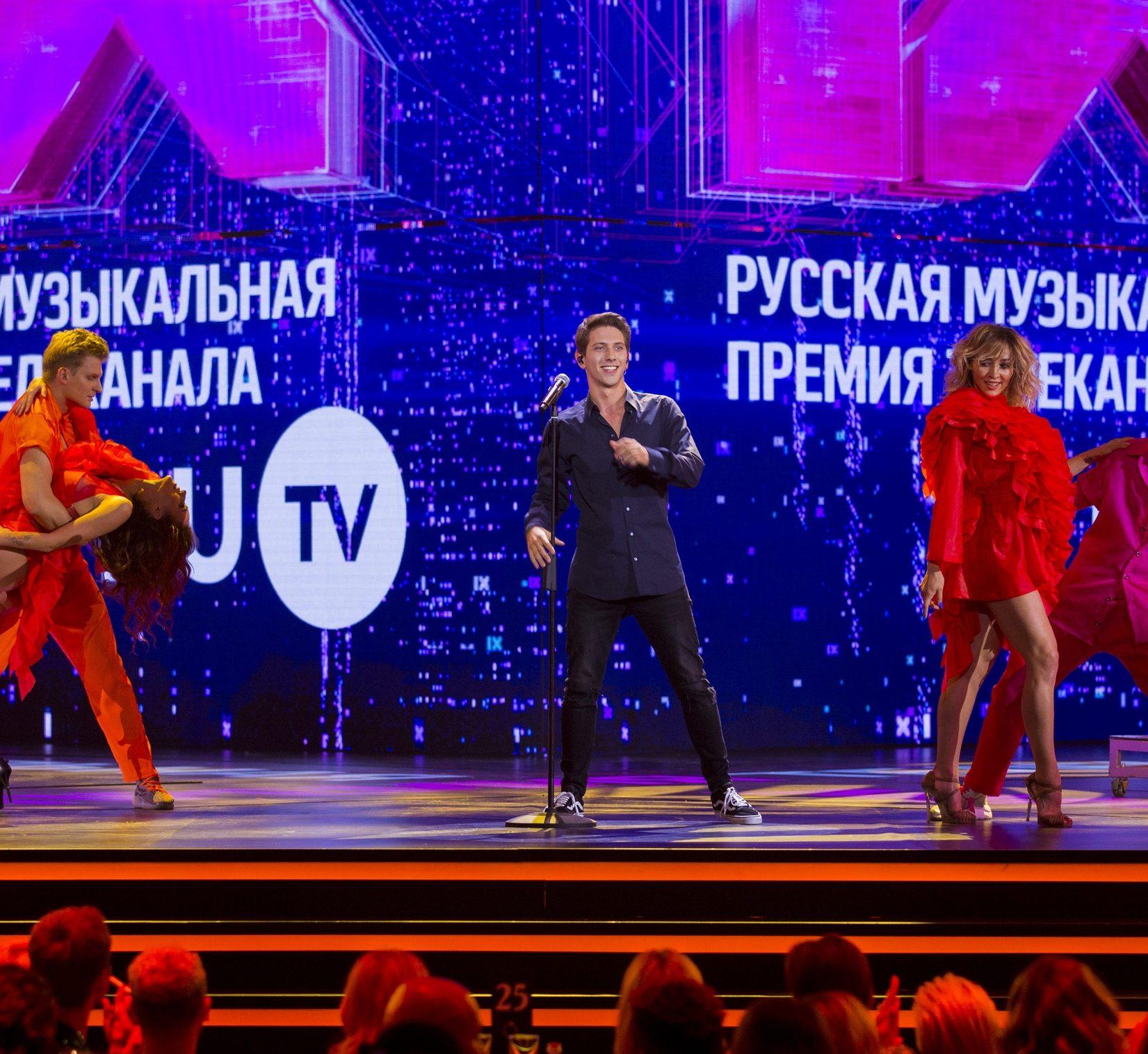 ЮрКисс выступил на IX Русской Музыкальной Премии телеканала RU.TV